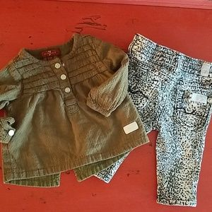 7 for all Mankind Little Girls Baby Cheetah Outfit